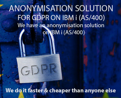 anonymisation pseudonymisation gdpr ibm i as400