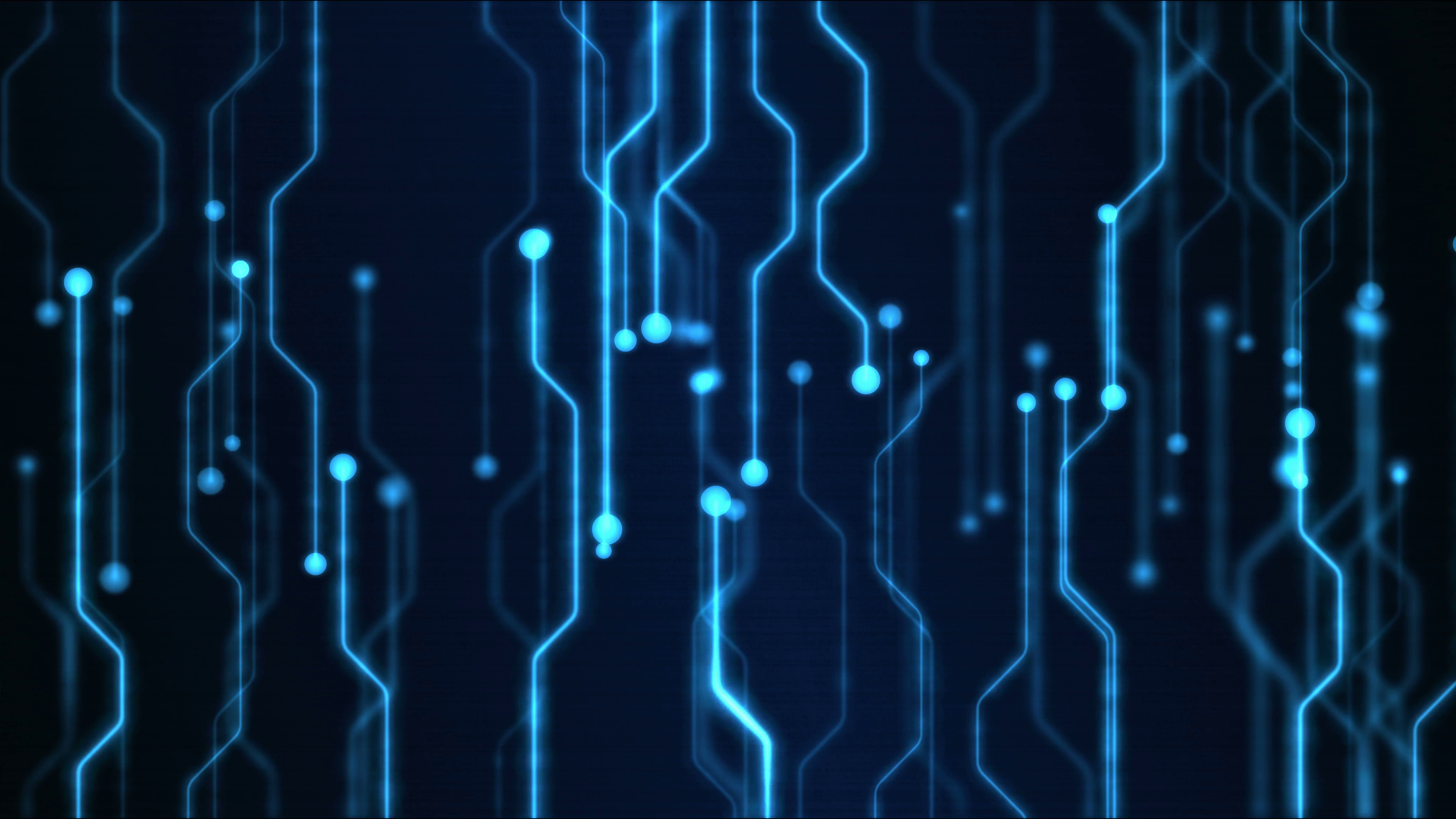 abstract technology circuit background animation loop blue vk7hwaex8